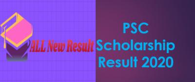 PSC Scholarship Result 2020 PDF Download